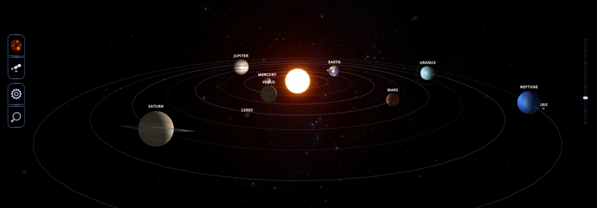 Interactive Solar System Map NUSTEM - Interactive space map
