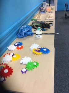 Equipment ready for ASE On the move session.